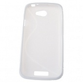Чехол Drobak Elastic Rubber для HTC One S (White)