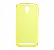 Чехол Drobak Elastic PU для Fly IQ4410i (Yellow Clear)