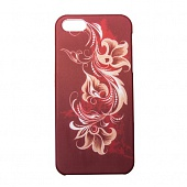 Чехол Drobak Elastic PU для Apple Iphone 5 (Red flower)