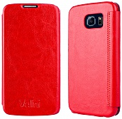 Чехол Vellini Book Style для Samsung Galaxy S6 (Red)