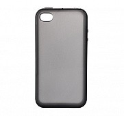 Чехол Drobak Elastic PU для Apple Iphone 4/4S (Black Clear)