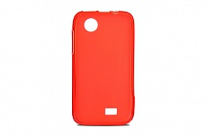 Чехол Drobak Elastic PU для Lenovo A369 (Red Clear)