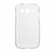 Чехол Drobak Elastic PU для Samsung Galaxy Ace 3 Duos S7272 (White Clear)